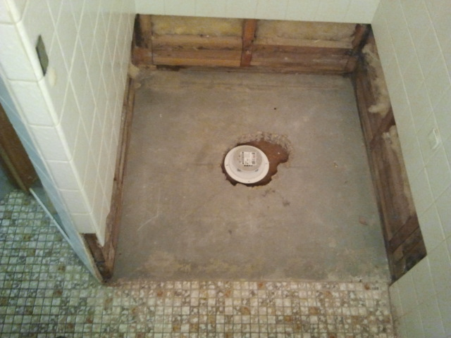 Here You Have A Clean Demo Of The Shower Floor ...